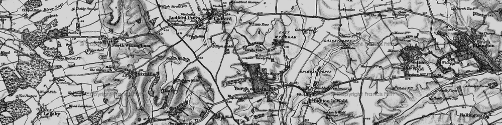 Old map of West Wykeham Village in 1899