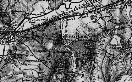 Old map of Gittisham in 1898