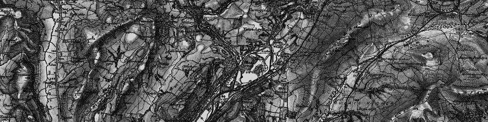 Old map of Ynys-Cedwyn in 1898
