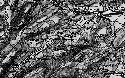 Old map of Betws in 1898