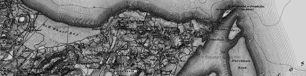 Old map of Bryn Ddol in 1899