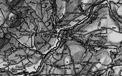 Old map of Aberelwyn in 1898