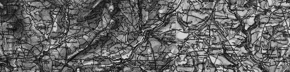 Old map of Aberelwyn in 1898