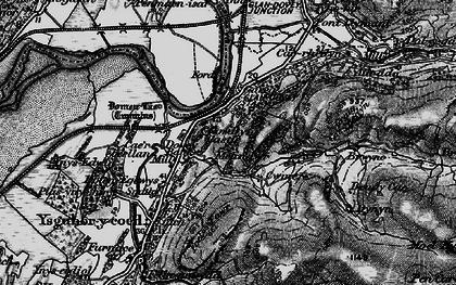 Old map of Glandyfi in 1899