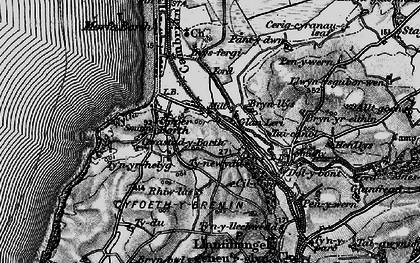 Old map of Ynysfergi in 1899