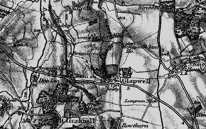 Old map of Glapwell in 1896