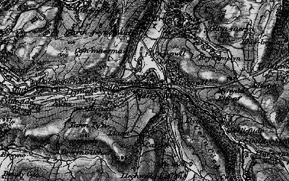 Old map of Glaspwll in 1899