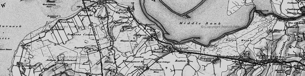 Old map of Whitriggmoor Ho in 1897