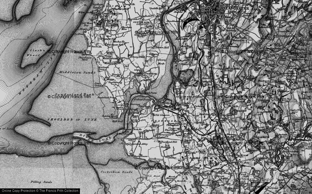 Old Map of Historic Map covering Tithe Barn Hill in 1898