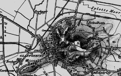 Old map of Glastonbury in 1898