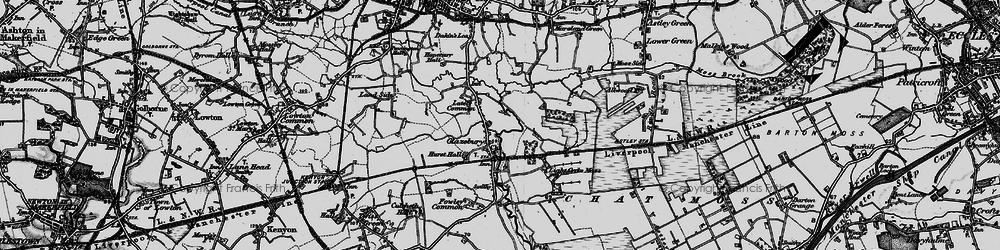 Old map of Glazebury in 1896