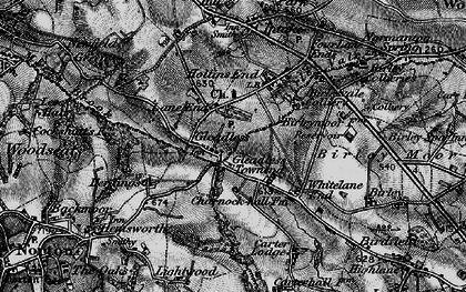 Old map of Gleadless in 1896