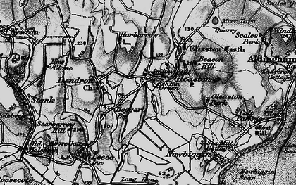 Old map of Gleaston in 1897