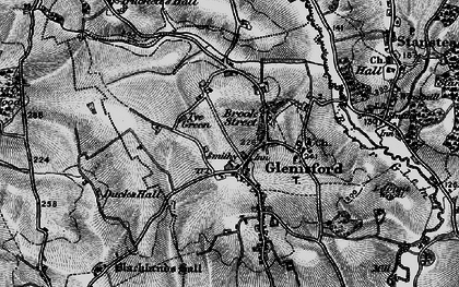 Old map of Glemsford in 1895