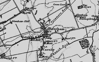 Old map of Glentham in 1898