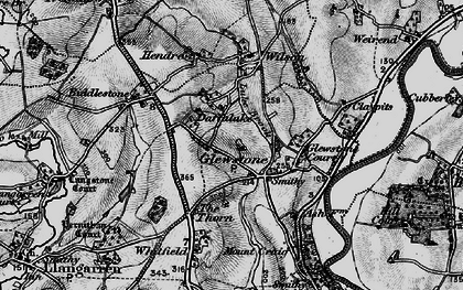 Old map of Hollymount in 1896