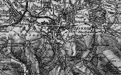 Old map of Glossop in 1896