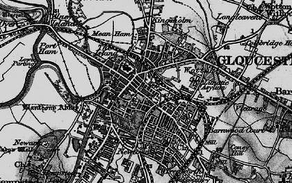 Old map of Gloucester in 1896