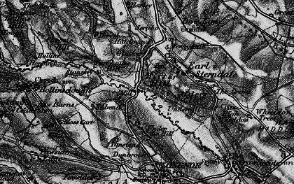 Old map of Aldery Cliff in 1896