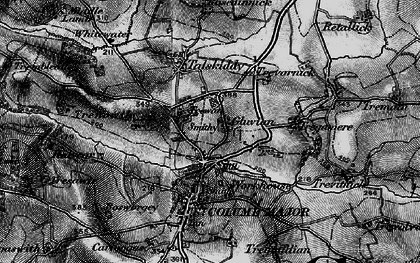 Old map of Gluvian in 1895