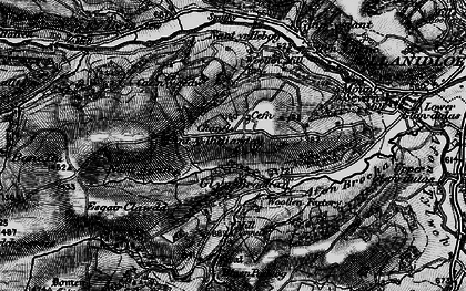 Old map of Afon Brochan in 1899