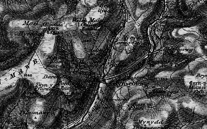 Old map of Afon Corrwg Fechan in 1898