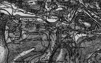 Old map of Afon Ro in 1897