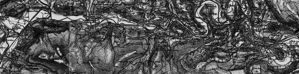 Old map of Glyndyfrdwy in 1897