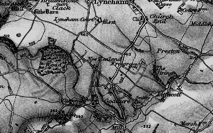 Old map of Goatacre in 1898