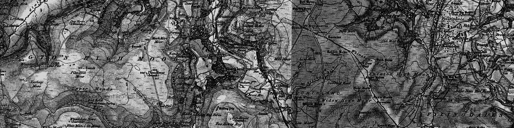Old map of Abbot's Ho in 1898