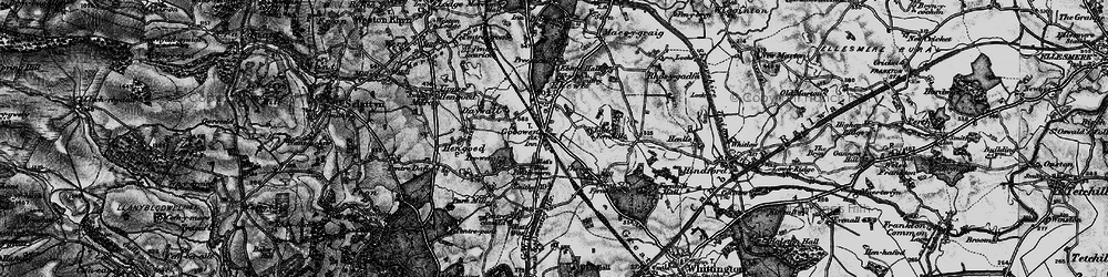 Old map of Gobowen in 1897