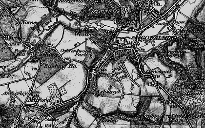 Old map of Godalming in 1896