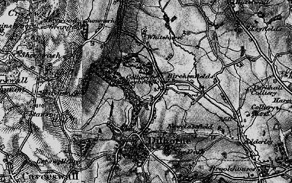 Old map of Whitehurst in 1897