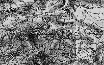 Old map of Godolphin Cross in 1895