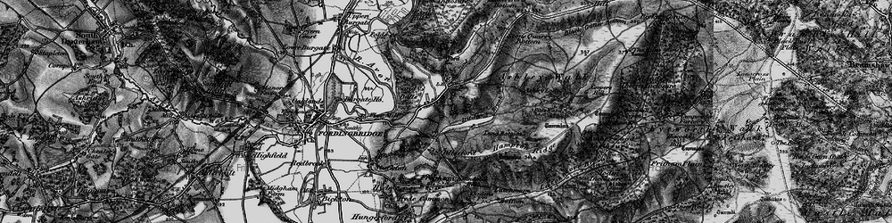 Old map of Godshill in 1895