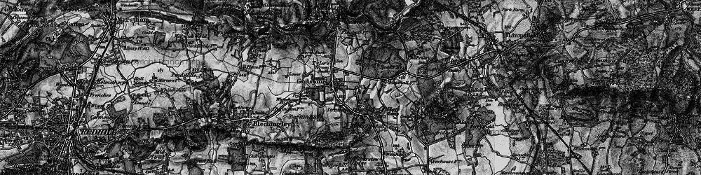 Old map of Godstone in 1895