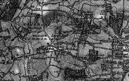 Old map of Goff's Oak in 1896