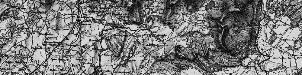 Old map of Ysgubor Gerrig in 1899