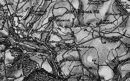 Old map of Golberdon in 1896