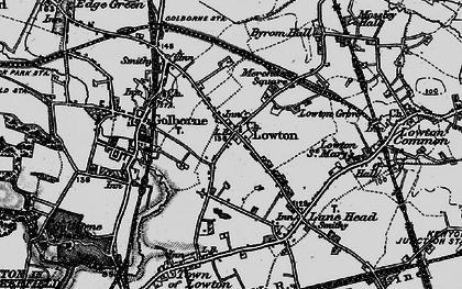 Old map of Golborne in 1896