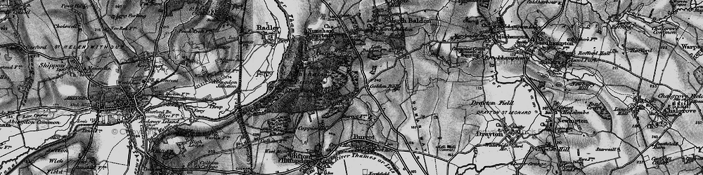 Old map of Windmill Hill in 1895