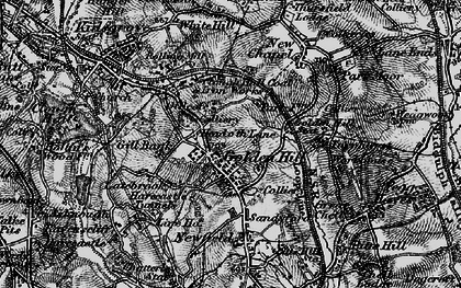 Old map of Goldenhill in 1897
