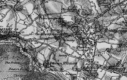 Old map of Goldsithney in 1895