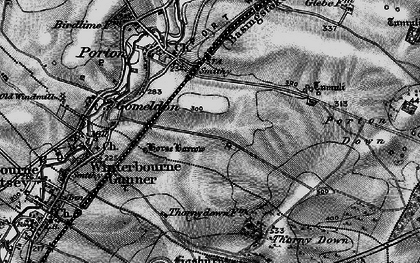 Old map of Gomeldon in 1898