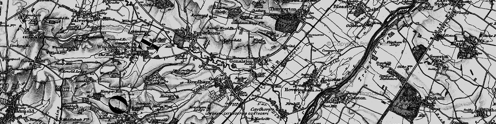 Old map of Wood Barn in 1899