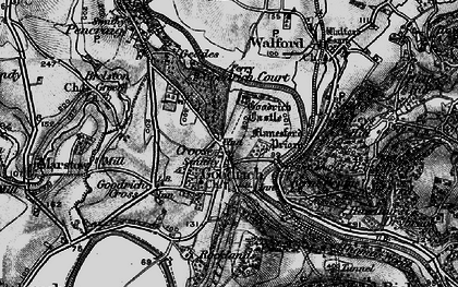 Old map of Goodrich in 1896