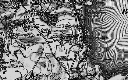 Old map of Goodrington in 1898