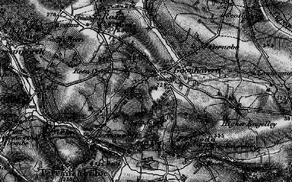 Old map of Goonhavern in 1895