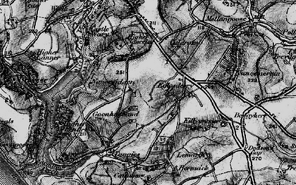 Old map of Goonhusband in 1895