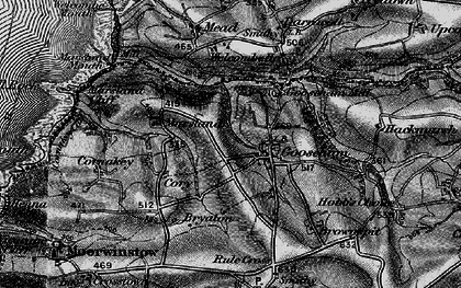 Old map of Gooseham in 1896